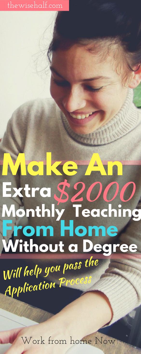 make money teaching from home