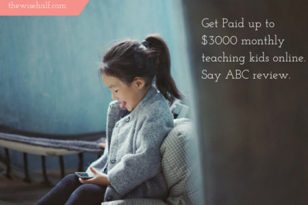 Get Paid teaching kids online. Say ABC review.