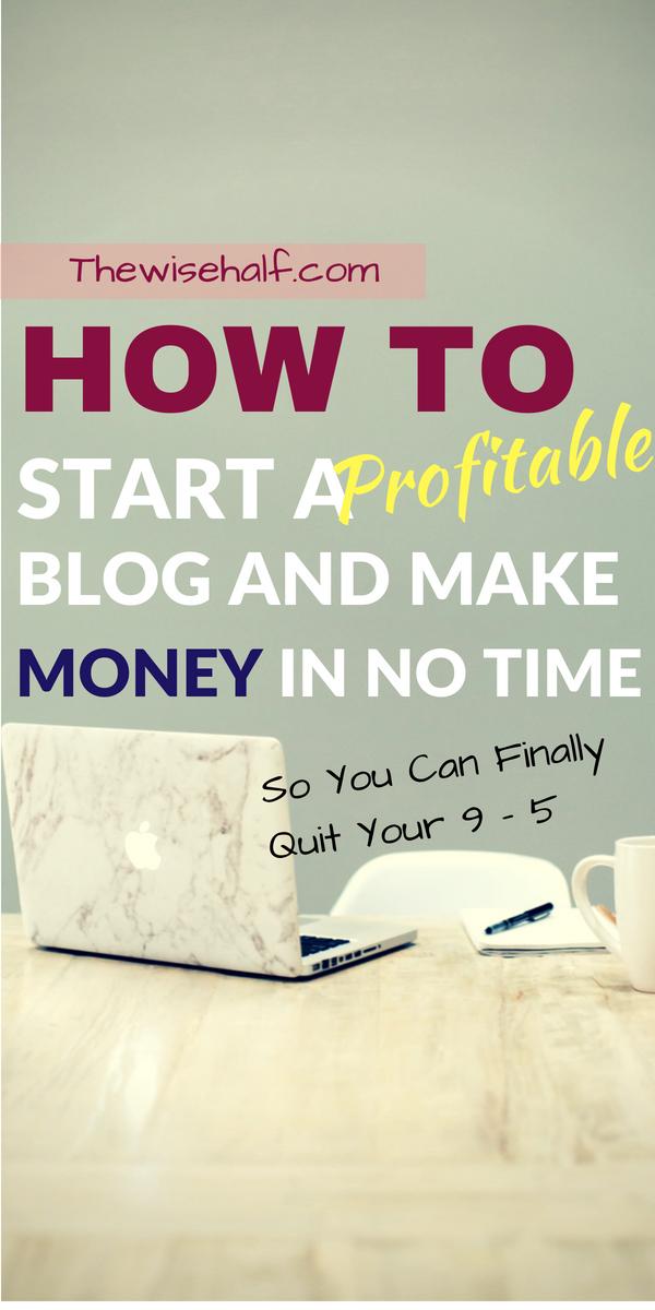 start a money-making blog now