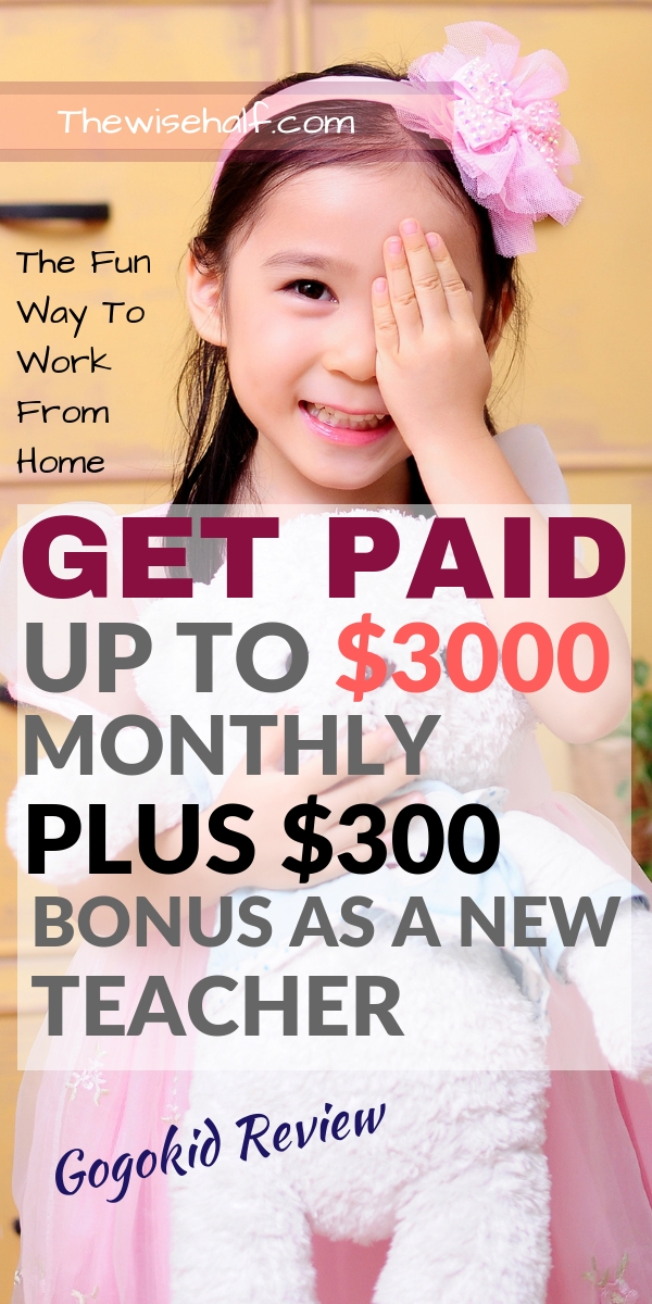 Get Paid up to $25/ hour teaching kids  Work at Gogokid