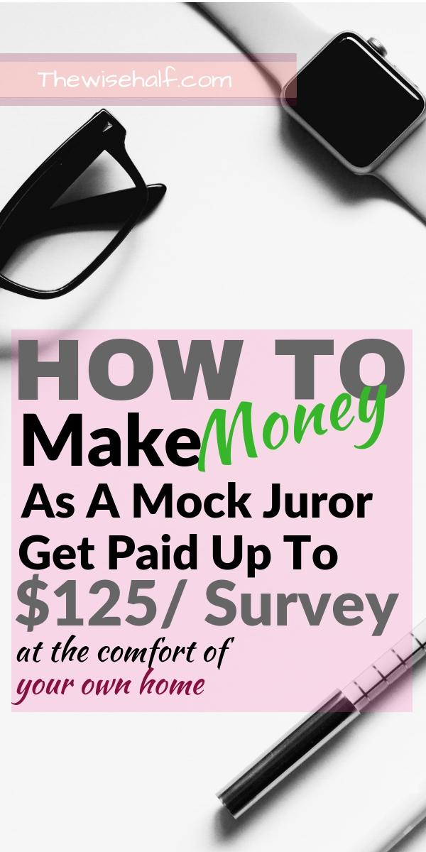 make money as a mock juror