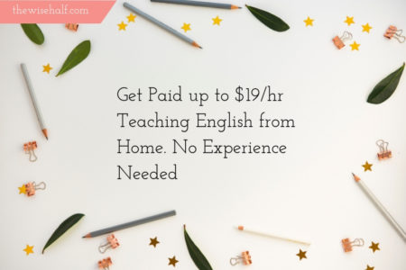 Get paid to teach without experience- the wise half